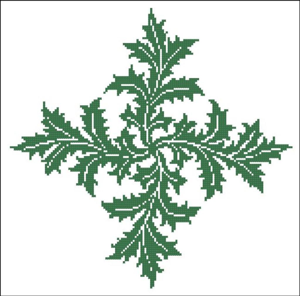 Floral Ornamental #039 Leafy Swirls