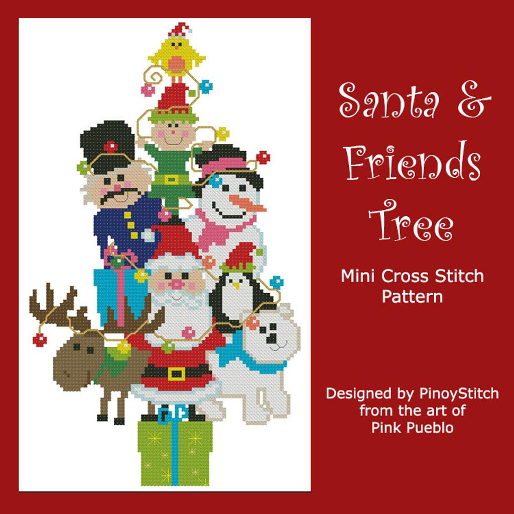 Christmas Tree Santa & Friends