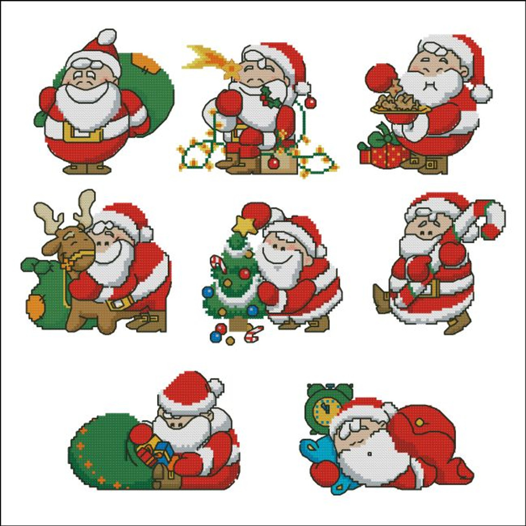 Chubby Santas Mini Collection