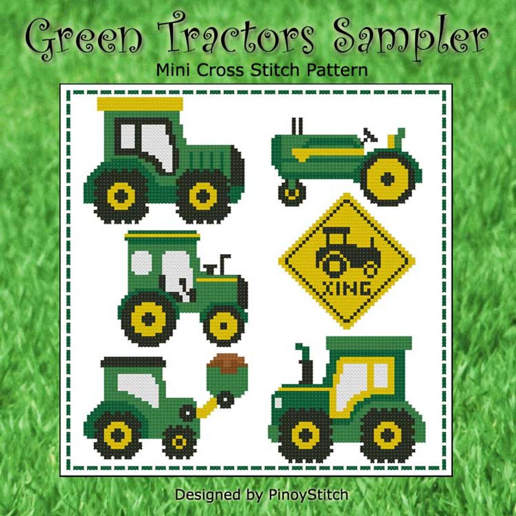 Green Tractors Sampler