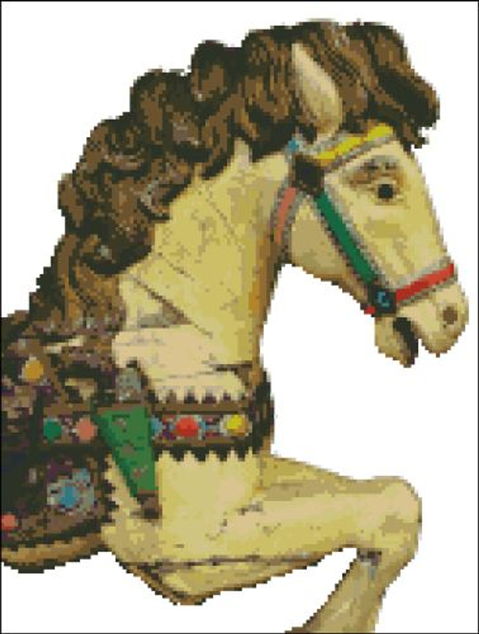 Carousel Horse 2 Pinoystitch