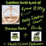 Halloween Hootie Matchup Cross Stitch Pattern