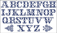Vintage Alphabet Cross 10301