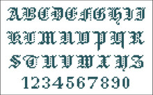 Vintage Alphabet Gothic Small 10307