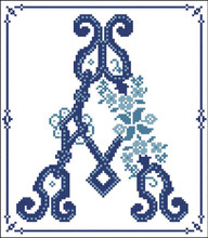 Decorative Blue Alphabet A