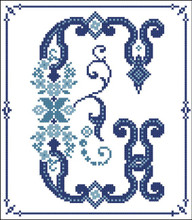 Decorative Blue Alphabet G