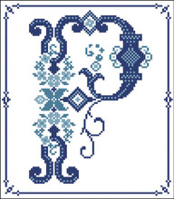 Decorative Blue Alphabet P
