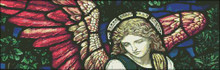 Angel Stained Glass Detail