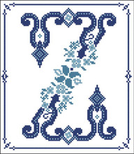 Decorative Blue Alphabet Z