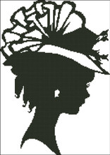 Ladies Hat Silhouette 001