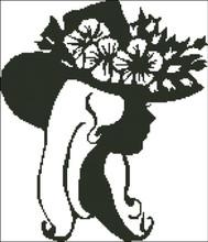 Ladies Hat Silhouette 005