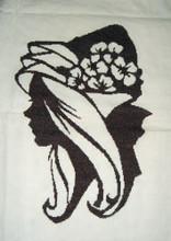 Ladies Hat Silhouette 010