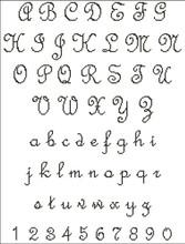 French Script Alphabet