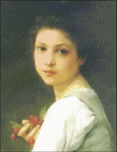 Young Girl with Cherries