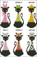Black Cat Goofy Bookmark