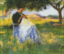 Sewing in the Orchard