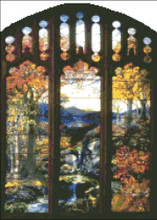 Autumn Landscape Stained Glass