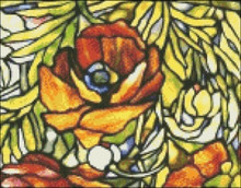Oriental Poppy Stained Glass