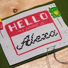 Echo Alexa Name Badge Cross Stitch Chart