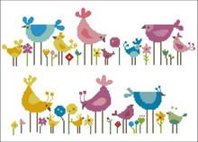 Birds and Wildflowers