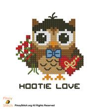 Hootie Love Cross Stitch Pattern