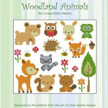 Woodland Animals Cross Stitch PDF Chart Cross Stitch Collection