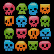 Skull Candies Colorful