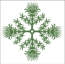 Floral Ornamental #016 Earthly Green