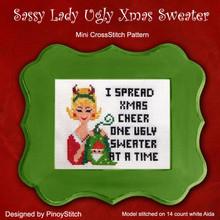 Sassy Lady Ugly Xmas Sweater