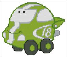 Chubby Race Cars 005 Green Lightning