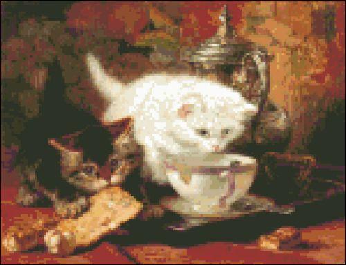 Kitten Tea Time