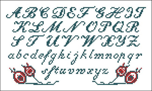Vintage Alphabet Italics 10410