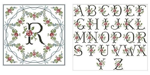 Victorian Roses Monogram
