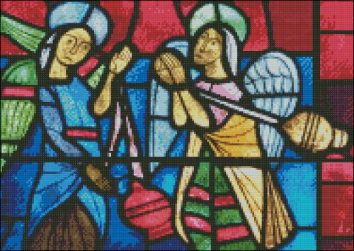 Church Window: Burgbrohl Angels