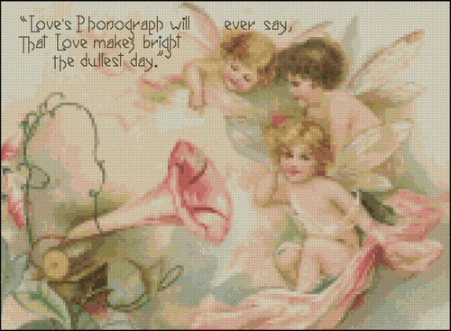 Vintage Fairies Phonograph