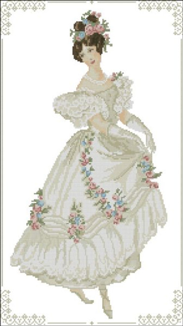 Victorian French 1800 Ball Gown