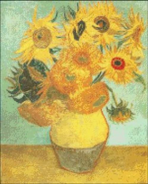 Twelve Sunflowers