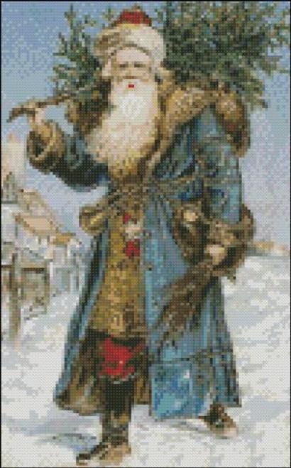 Santa in a Blue Robe