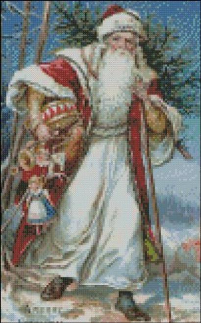 Santa in a Red Robe