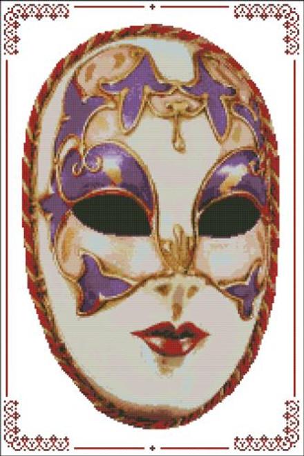Carnival Masks - 003 Red Gold Cord Left