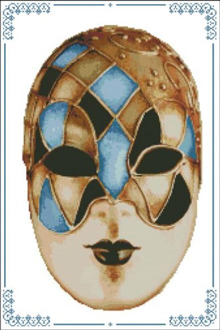 Carnival Masks - 008 Gold Blue