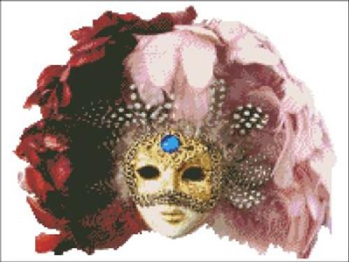 Venetian Mask Cross Stitch Pattern