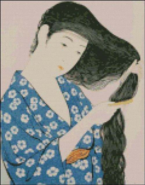 Bijinga 010 : Woman Combing Hair