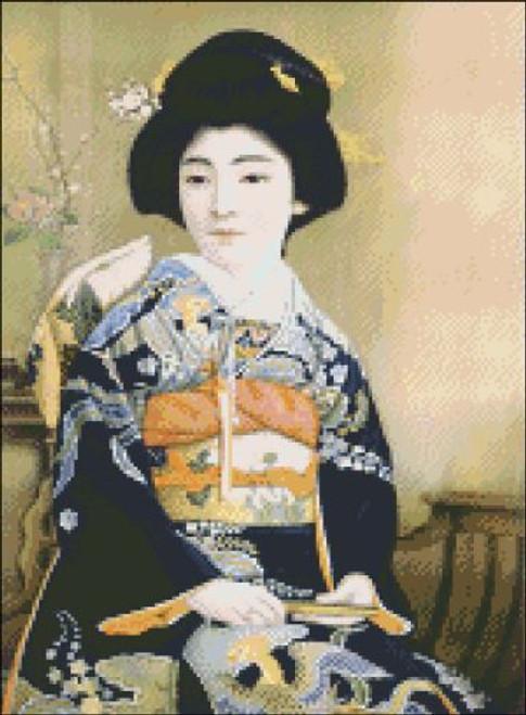 Japanese Lady Tea Label
