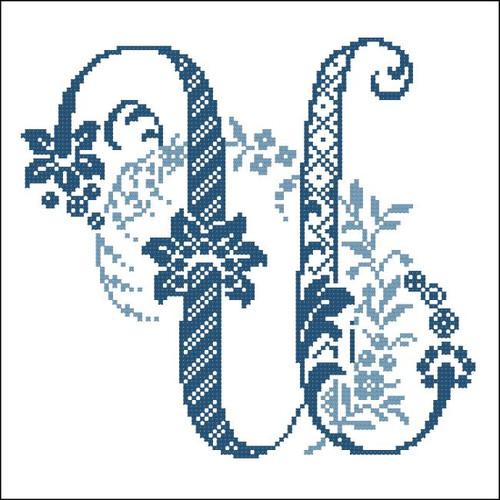 Elaborate Alphabet U