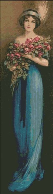 Victorian Lady with Roses