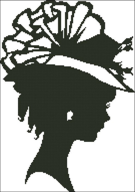 Ladies Hat Silhouette 001