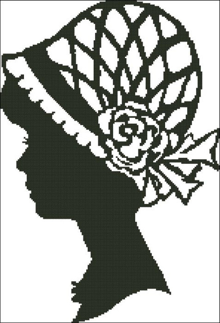 Ladies Hat Silhouette 004