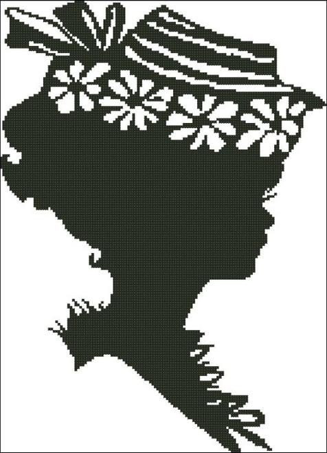 Ladies Hat Silhouette 006