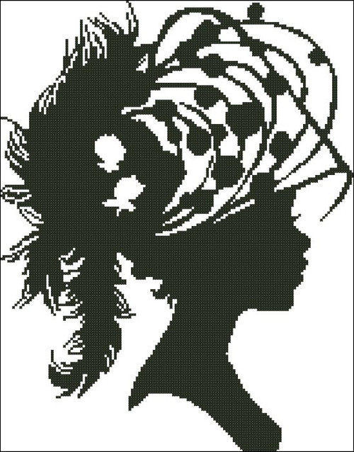 Ladies Hat Silhouette 008